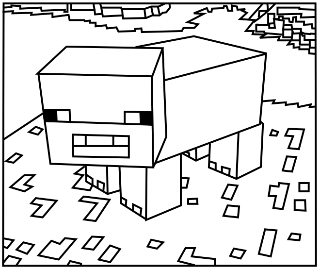 660x554 Minecraft Coloring Pages