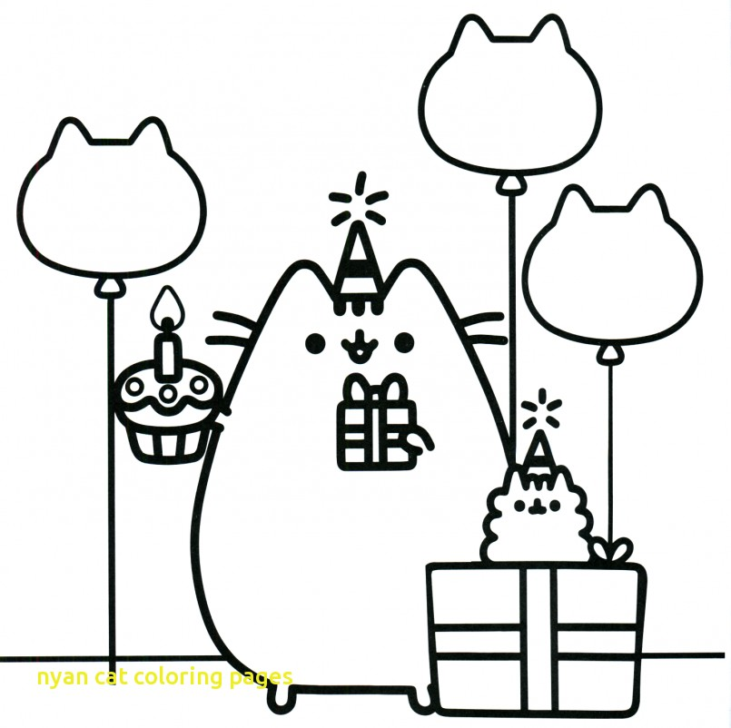805x802 Nyan Cat Coloring Pages With Coloring Pusheen Cat Coloring Pages