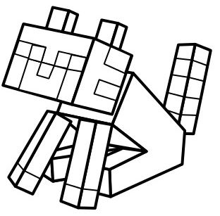 312x307 Steve Sitting With Minecraft Weapon Coloring Page