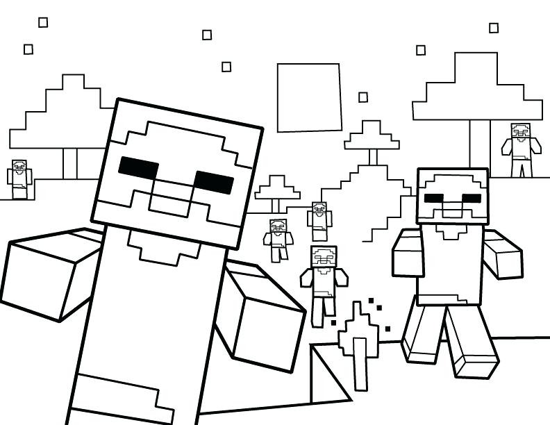 792x612 New Minecraft Creeper Coloring Page