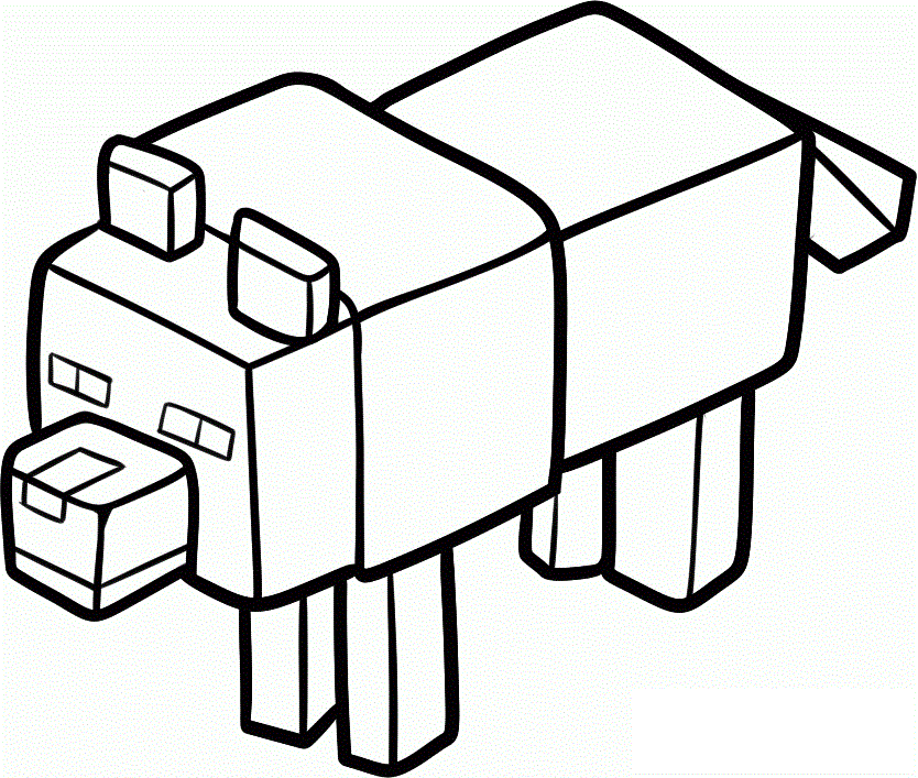 834x707 Minecraft Coloring Pages For Kids
