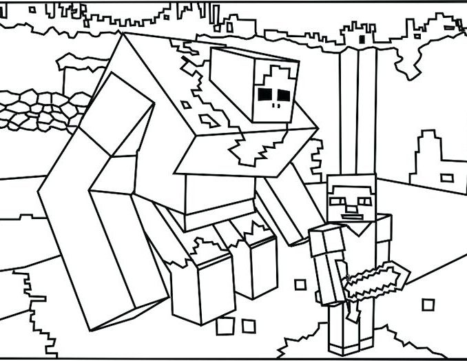 678x524 Minecraft Coloring Sheets Characters Coloring Pages Coloring
