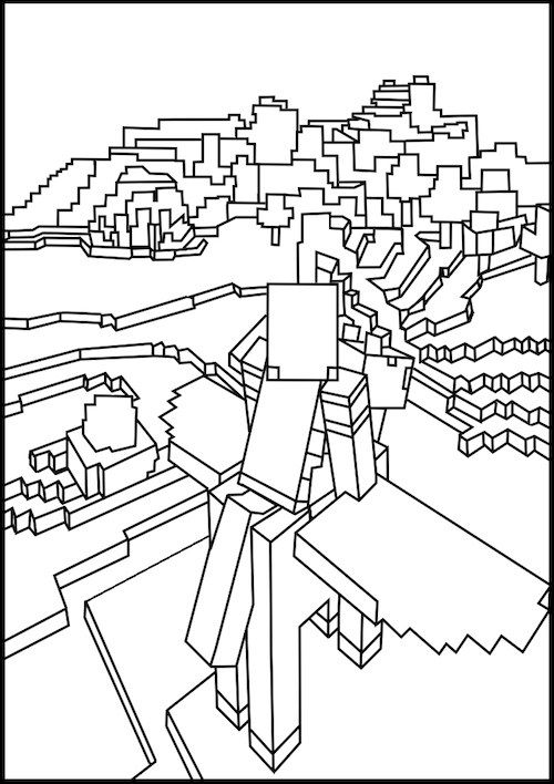 500x708 Minecraft Flying On Pegasus Coloring Page Minecraft Coloring