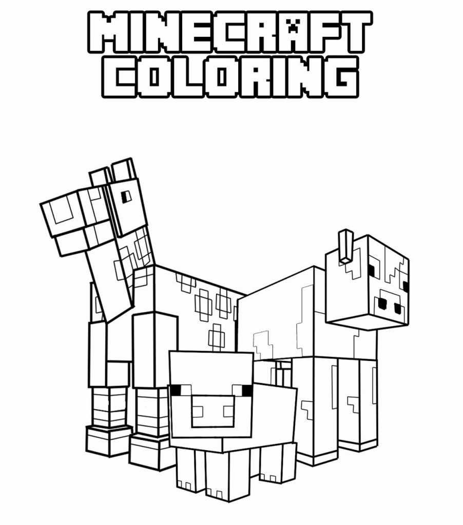902x1024 Minecraft Funny Character Free Coloring Page Kids, Minecraft