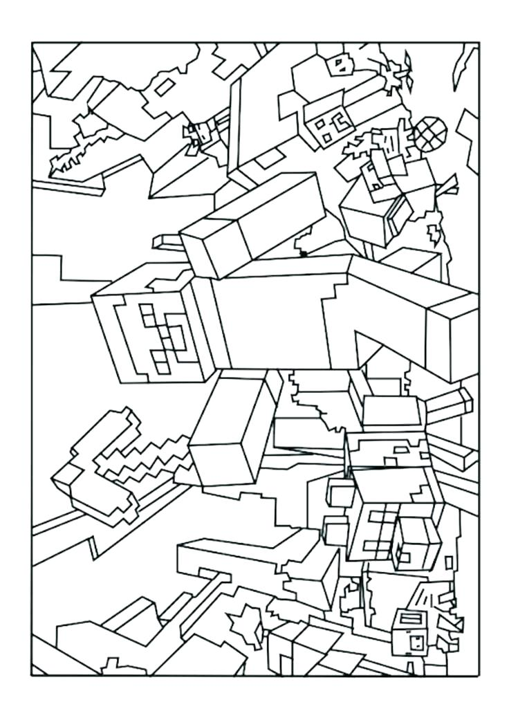 736x1041 Minecraft Herobrine Colouring Pages Cute Cartoon Characters