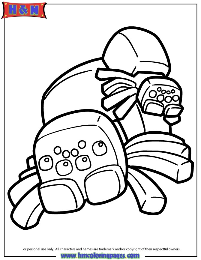 670x867 Minecraft Spider Coloring Pages Bangalow Craft Ideas