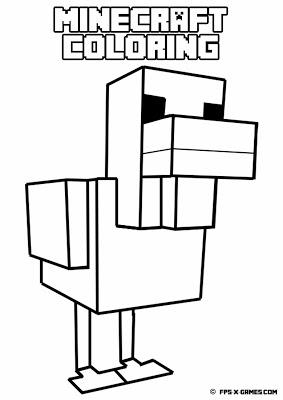 283x400 Printable Minecraft Coloring