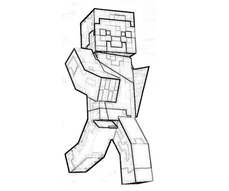 800x667 Minecraft Coloring Sheets To Print Printable Minecraft Character