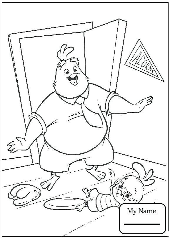 578x810 Chicken Little Coloring Pages Cartoons Chicken Little Alien Is
