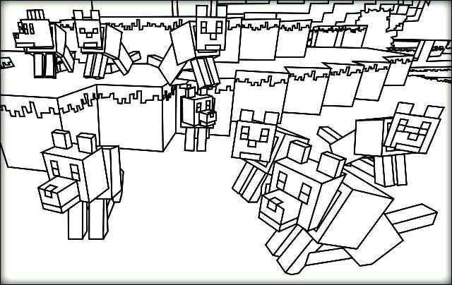 640x404 Minecraft Coloring Sheets Free Amusing Pages For Inside