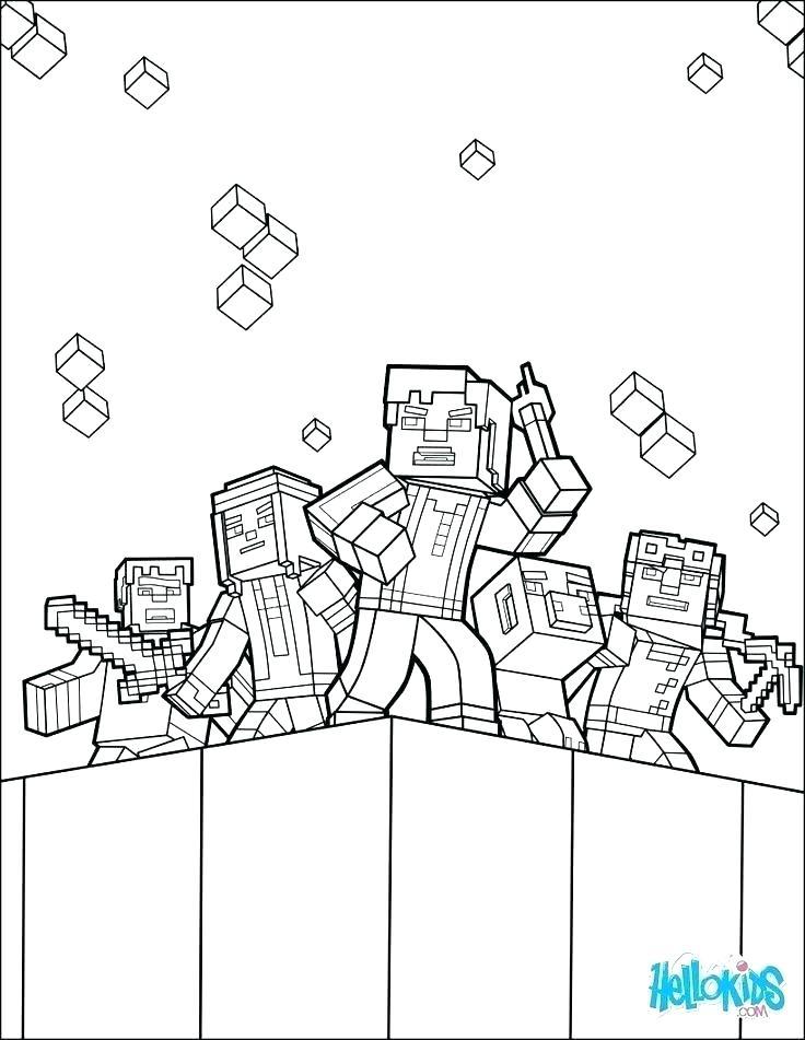 736x951 Minecraft Coloring