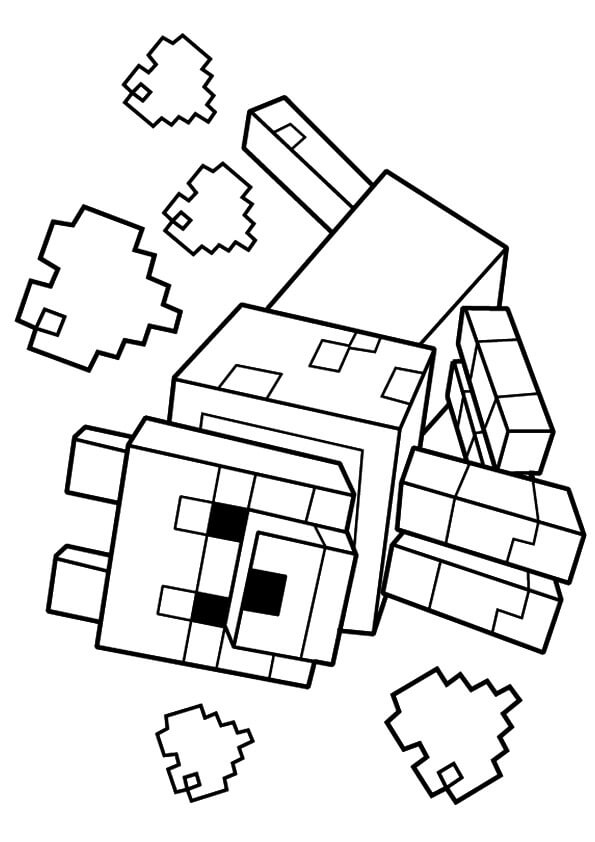 595x842 Minecraft Wolf Coloring Pages Printable Minecraft Coloring