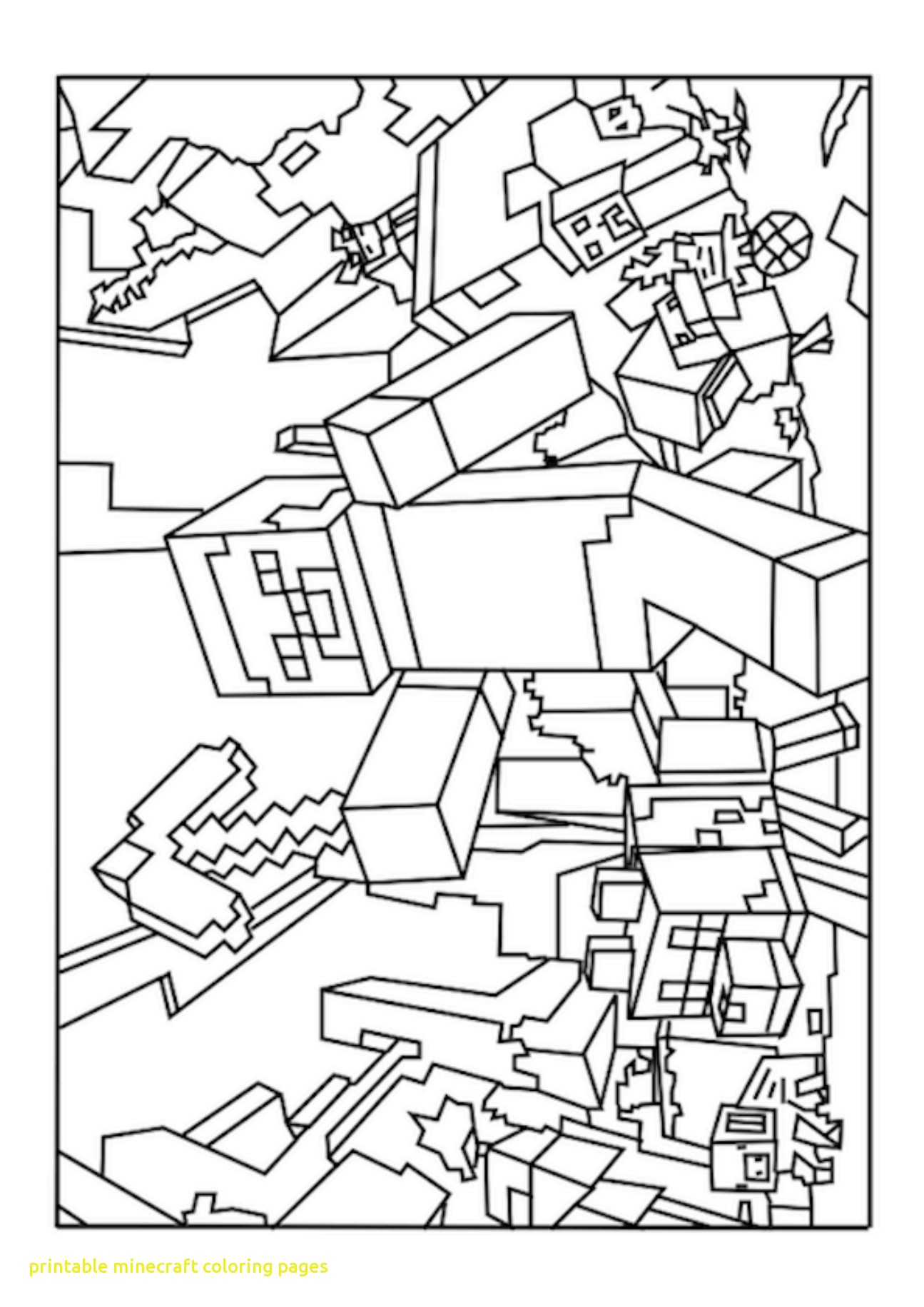 1295x1832 Printable Minecraft Coloring Pages With World Minecraft Coloring