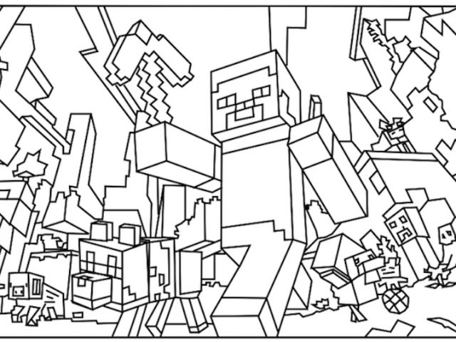 640x480 Amazing Printable Minecraft Coloring Pages U Az Coloring Pages