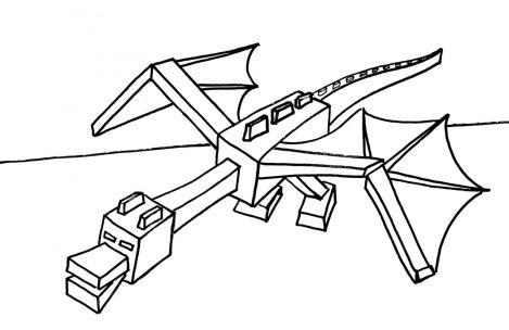 469x304 Minecraft Coloring Pages Ender Dragon Just Colorings
