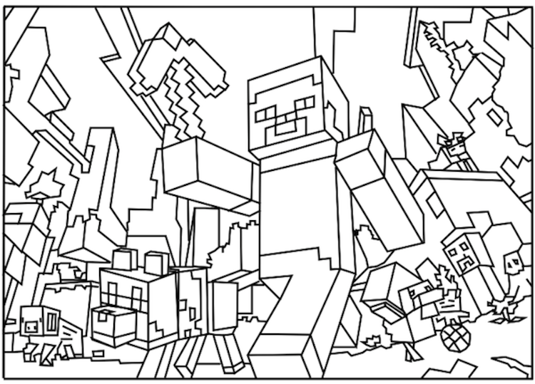 750x539 Free Printable Minecraft Coloring Sheets