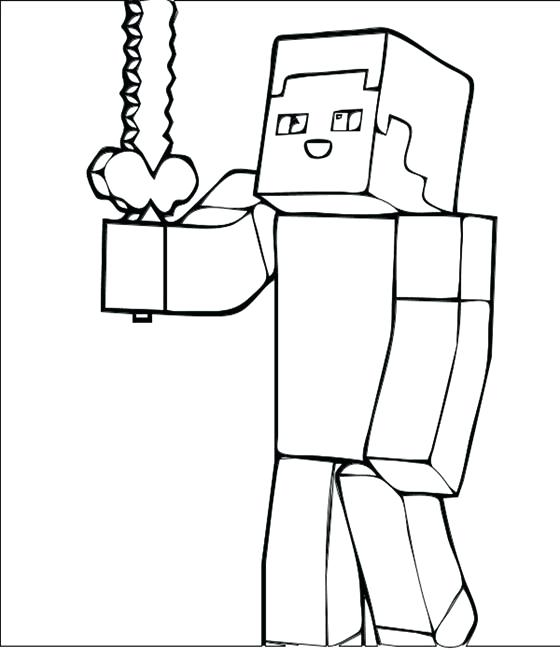 Minecraft Coloring Pages Creeper Face