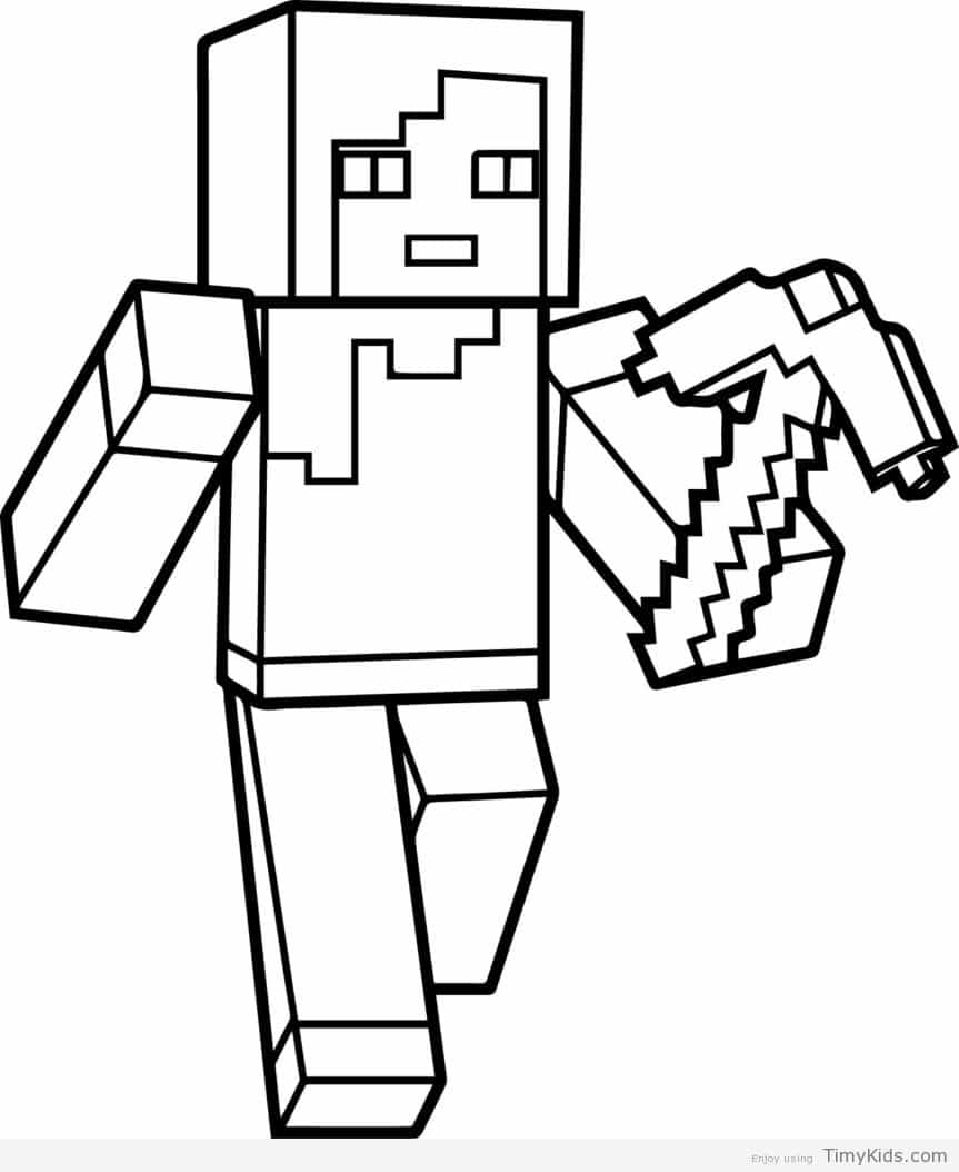 863x1054 Minecraft Coloring Pages