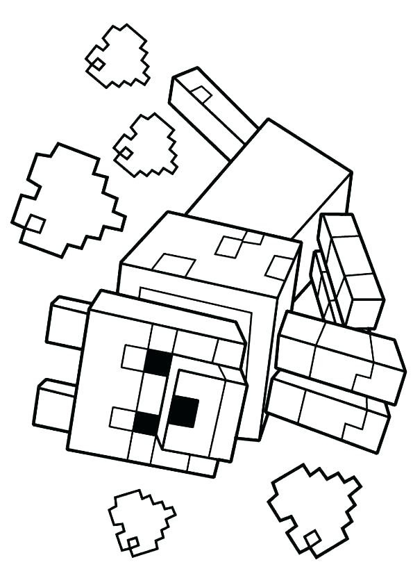 595x842 Minecraft Coloring Pages Ender Dragon Bangalow Craft Ideas