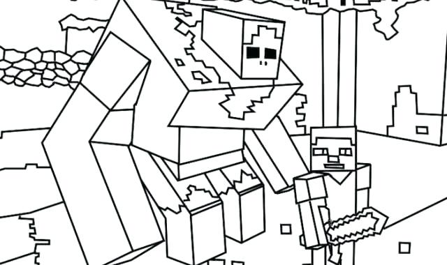 640x380 Minecraft Coloring Sheets Coloring Pages Free Printable Coloring