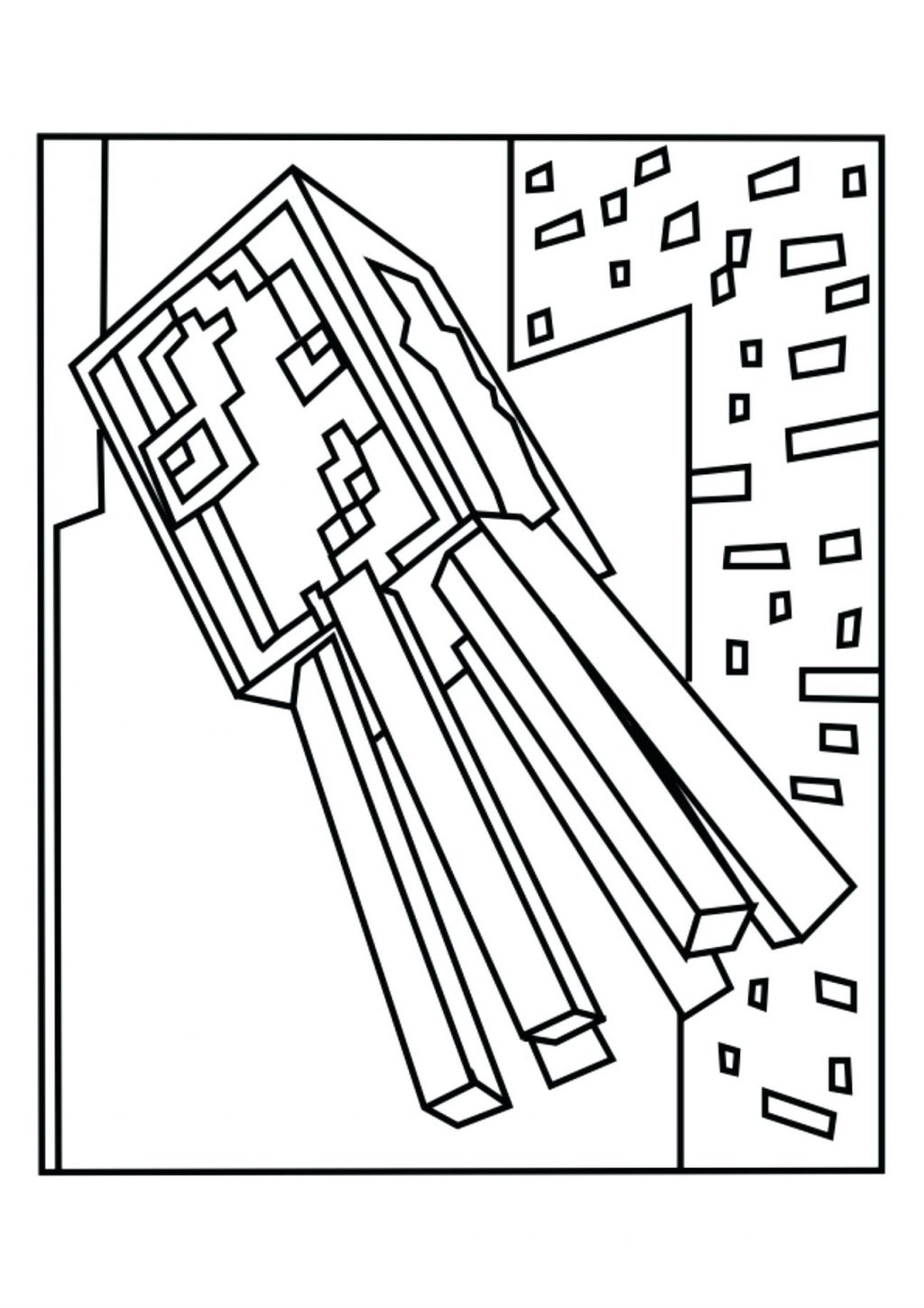 1024x1449 Coloring Pages Coloring Pages Of Minecraft Squid Ender Dragon