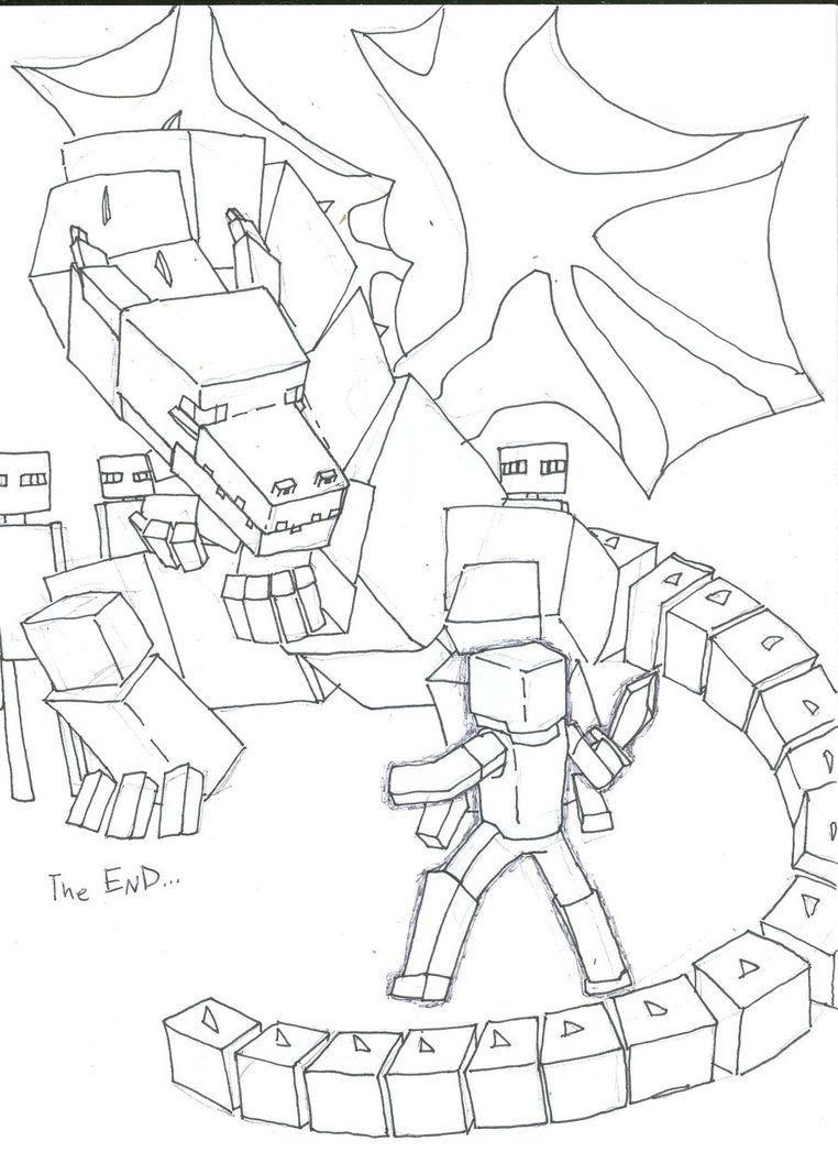 762x1047 Ender Dragon Coloring Pages