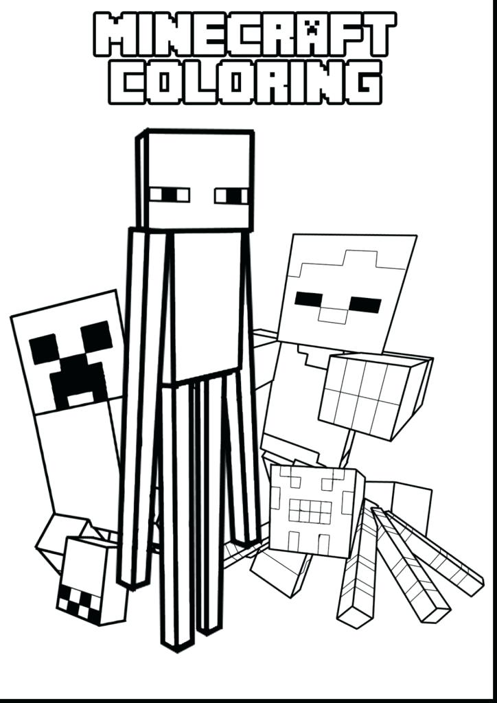 724x1024 Minecraft Coloring Pages For Kids Coloring Pages To Print Large