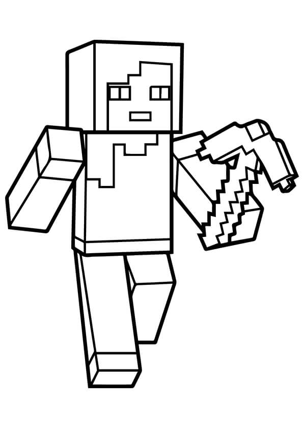 595x842 Printable Minecraft Coloring Pages