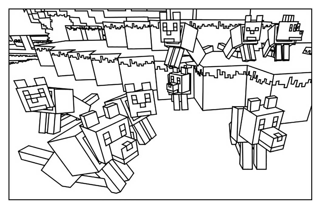 1057x689 Minecraft Free To Color For Kids
