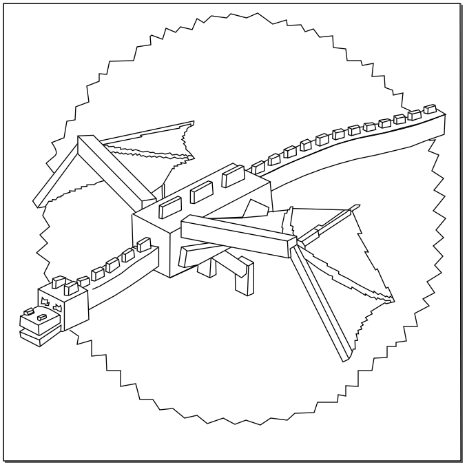 678x678 Minecraft Coloring Pages