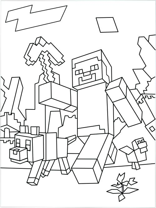 500x667 Print Minecraft Coloring Pages To Print A Horse Coloring Page
