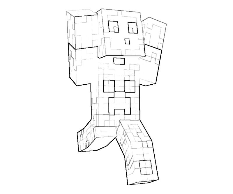 800x667 Printable Minecraft Character Action Coloring Pages Coloring Kids