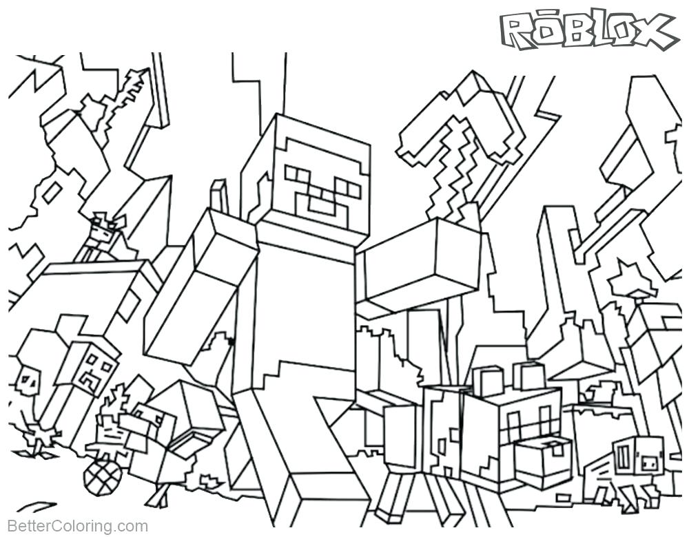 1000x780 Printable Minecraft Coloring Pages Coloring Page Video Games