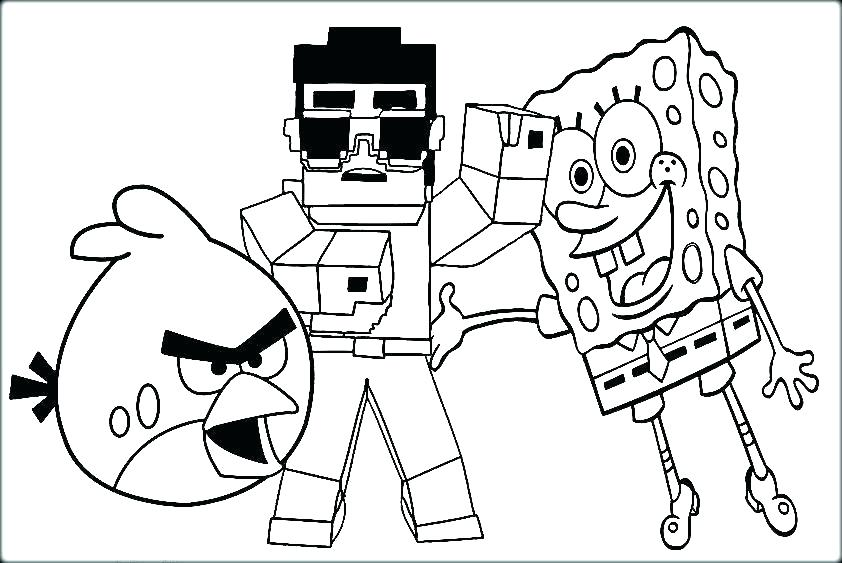842x563 Printable Minecraft Coloring Pages Coloring Pages Free Coloring