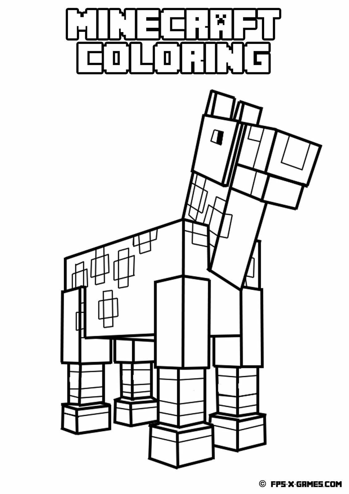 graphic relating to Free Printable Minecraft Coloring Pages titled Minecraft Coloring Webpages For Children at  Free of charge