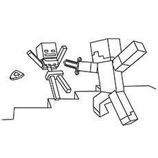 230x230 Minecraft Coloring Pages