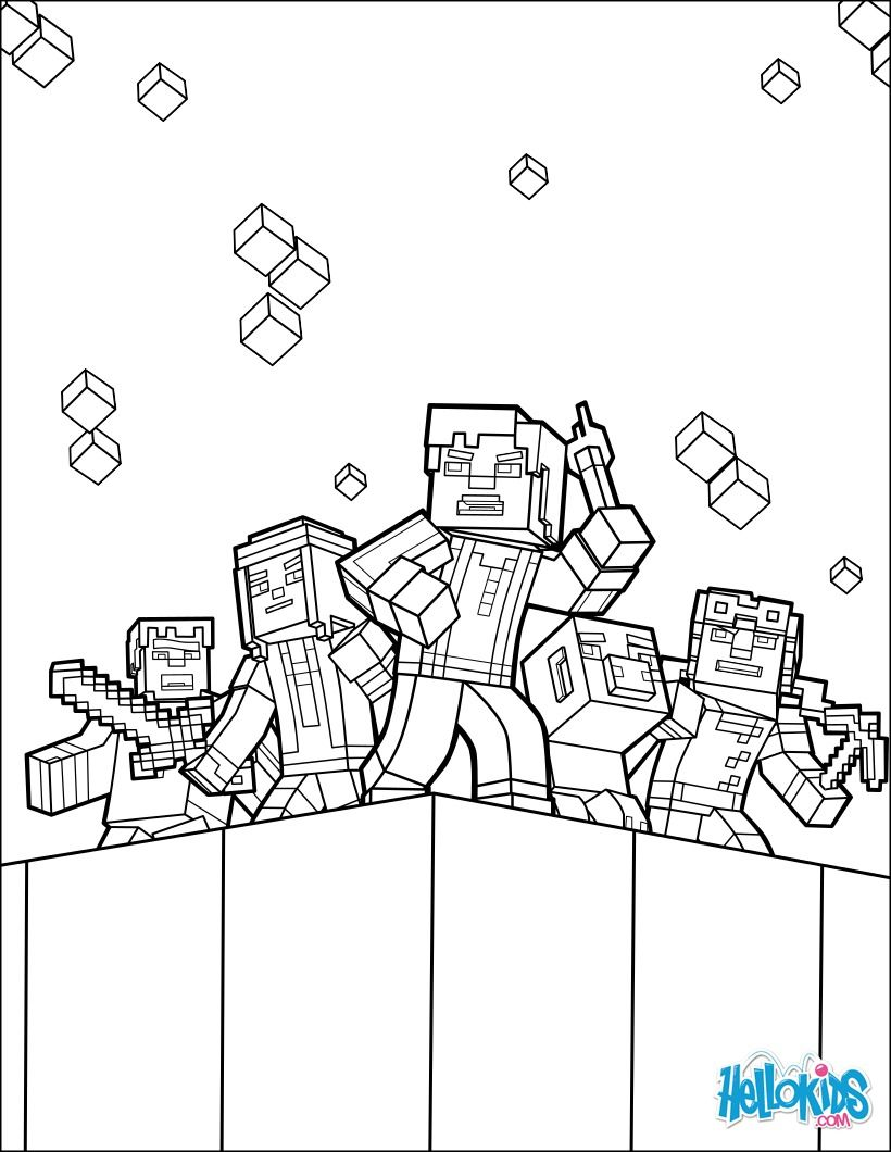 Minecraft Coloring Pages Online