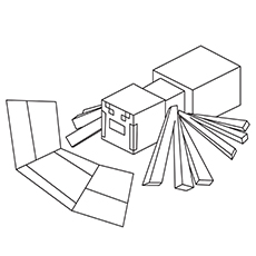 Minecraft Coloring Pages Spider