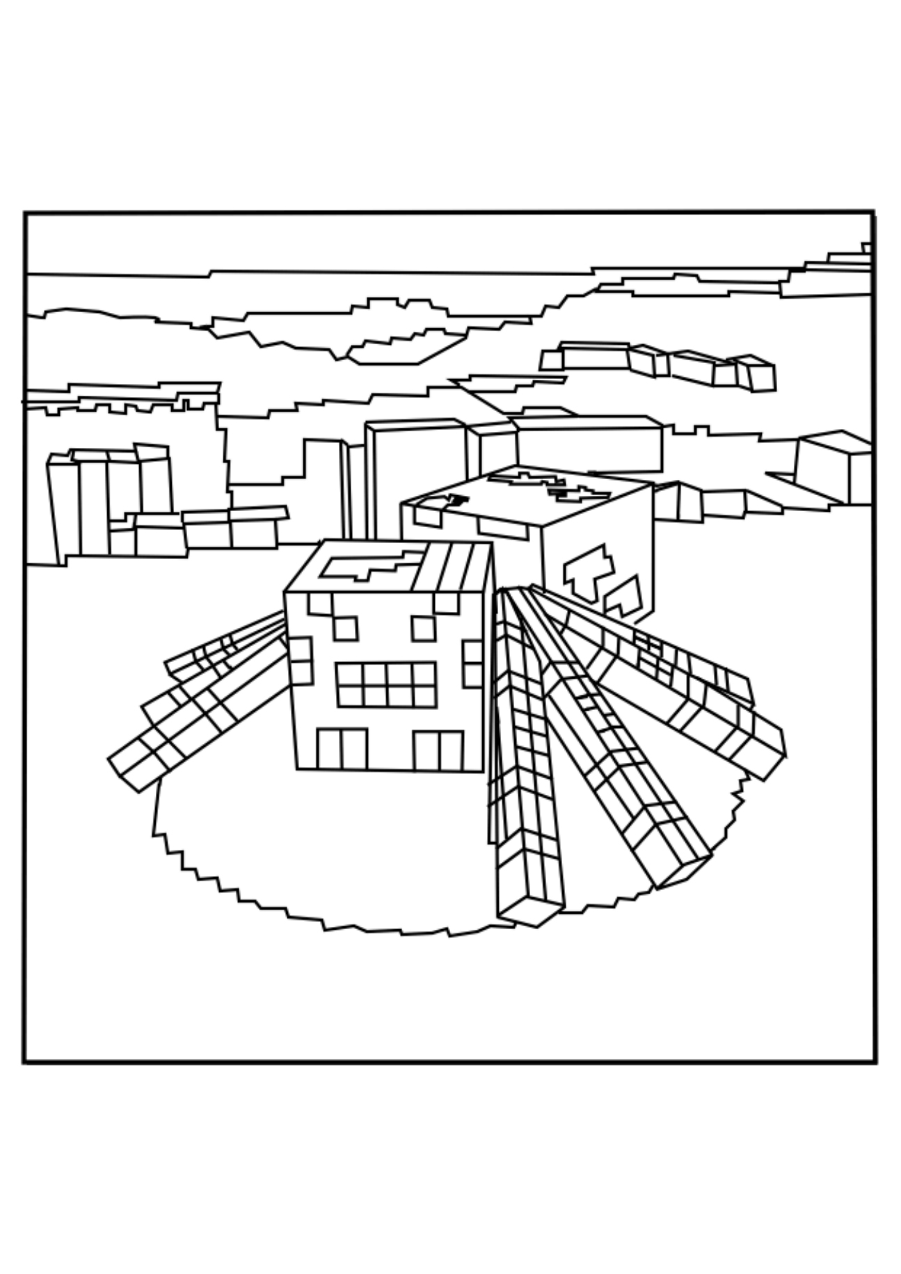 Minecraft Coloring Pages Spider At Getdrawings Com Free