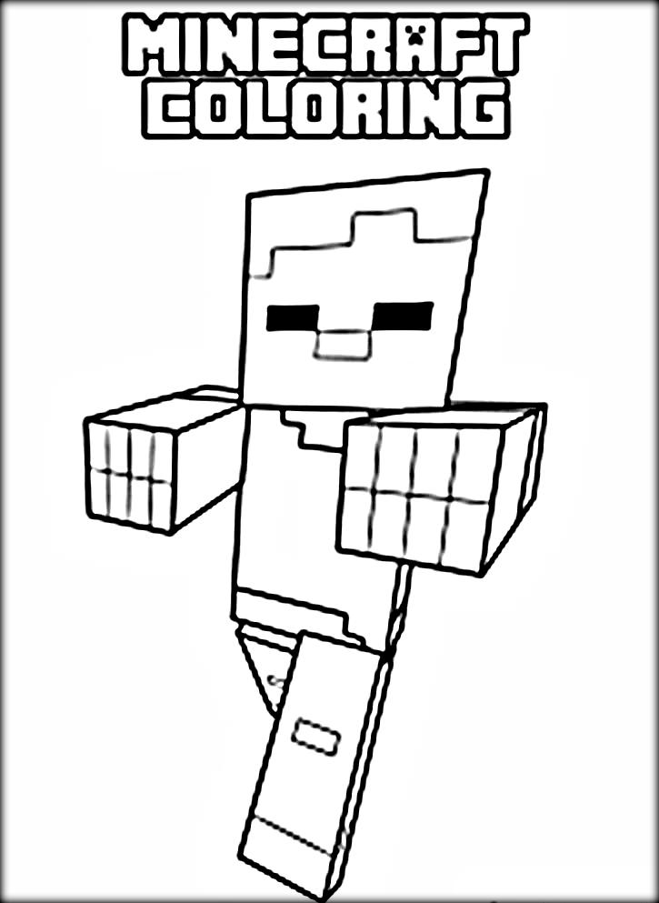 Minecraft Coloring Pages Spider At Getdrawings Com Free For