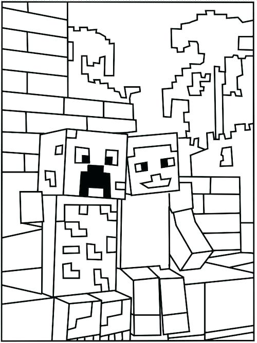 500x668 Minecraft Coloring Pages Coloring Pages Free Minecraft Coloring