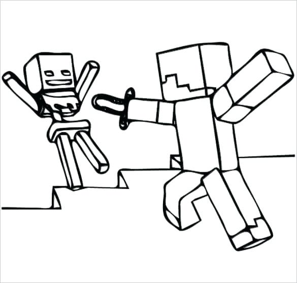 585x557 Minecraft Coloring Pages Image Photo Album Coloring Pages