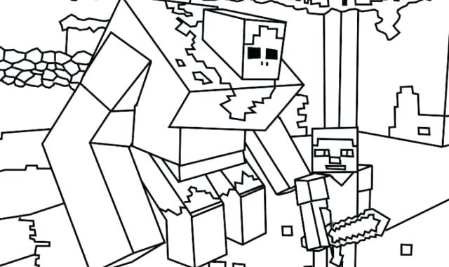 640x380 Minecraft Coloring Pages