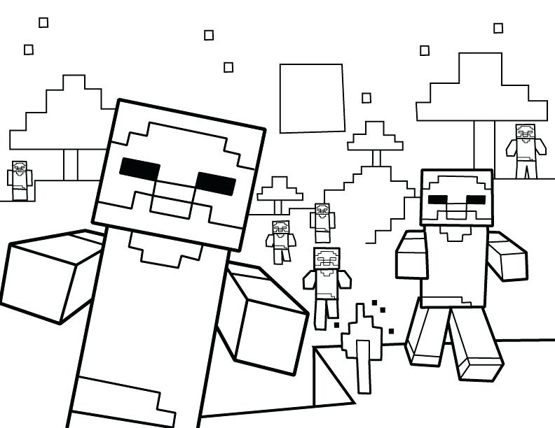 792x612 Minecraft Colouring Pages Download Printable Character Coloring