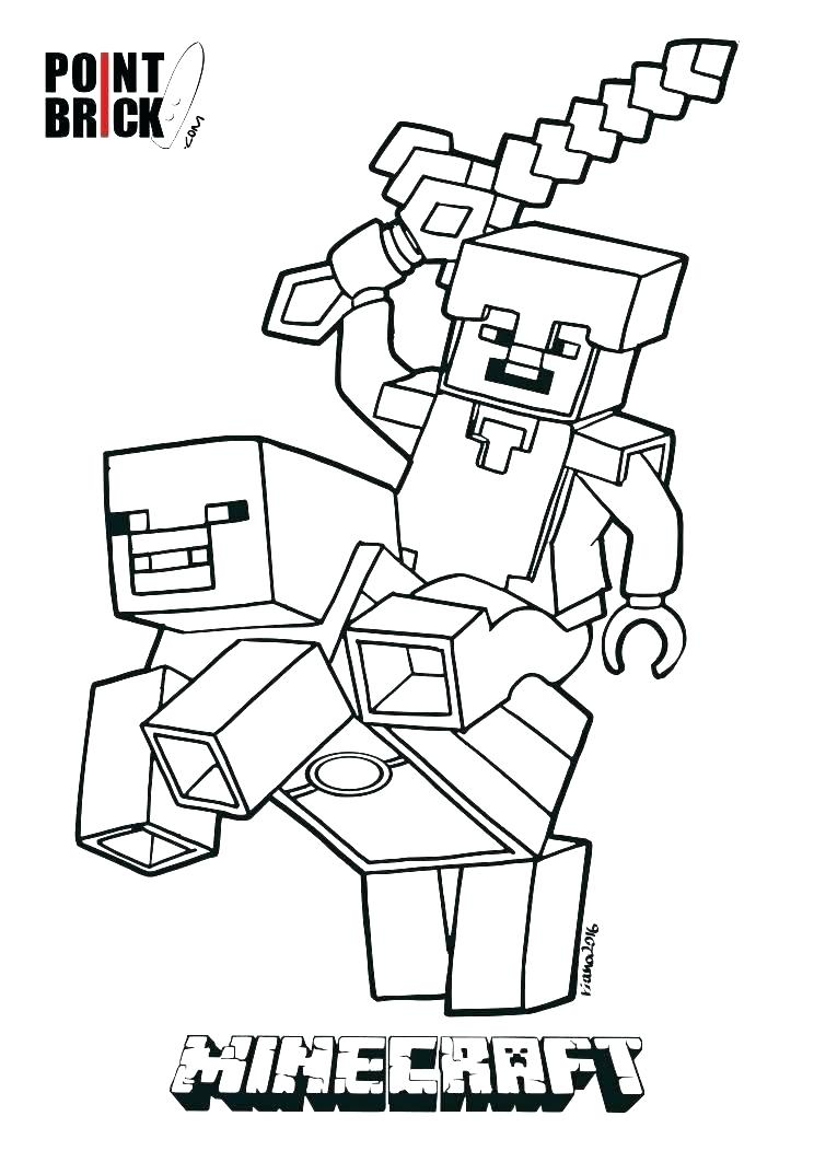744x1052 Minecraft Coloring Pages