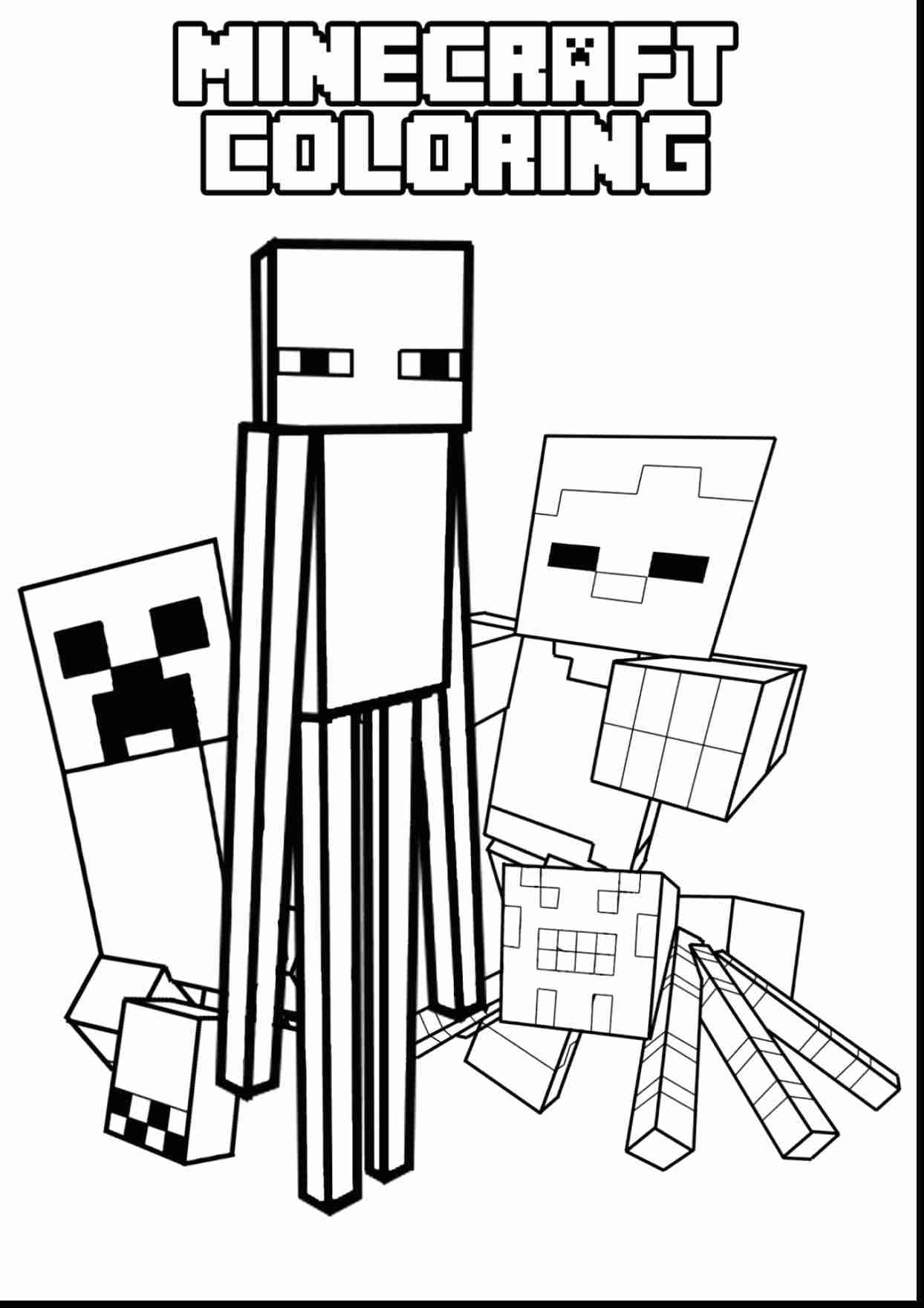 1244x1760 Free Printable Coloring Pages Minecraft Creeper Steve To Print