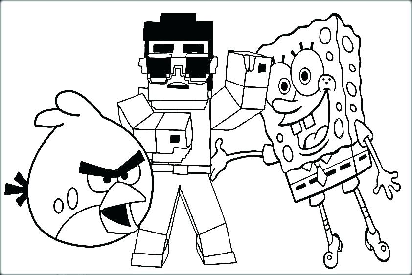 842x563 Free Printable Minecraft Creeper Coloring Pages Sword Page