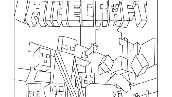 585x329 Minecraft Coloring Pages To Print Printable Coloring Pages Mobs