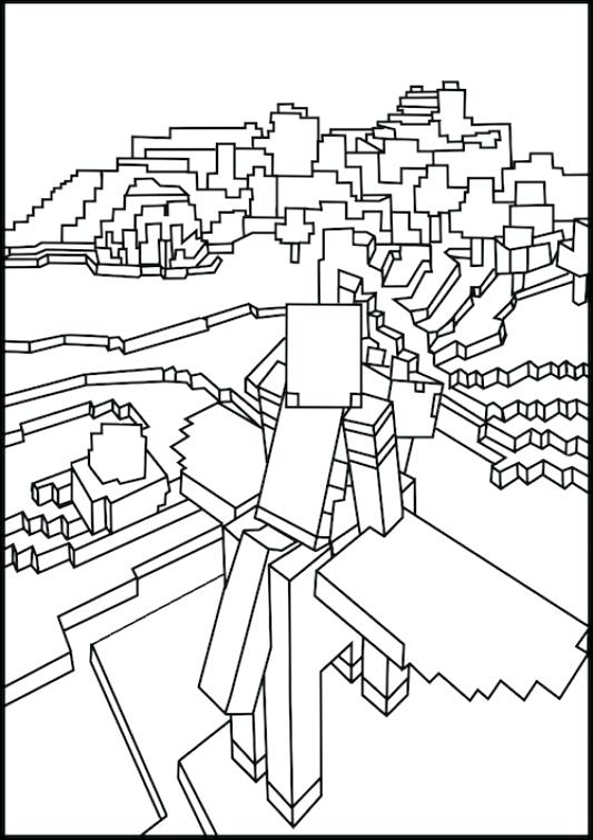 533x755 Minecraft Coloring Sheets Coloring Pages Featuring Creepers Dragon