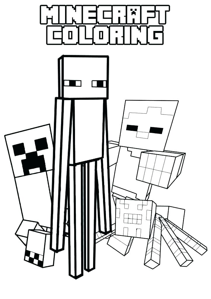 723x1024 Minecraft Creeper Coloring Pages Printable Printable Coloring